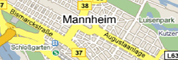 colodging Mannheim - Description of way